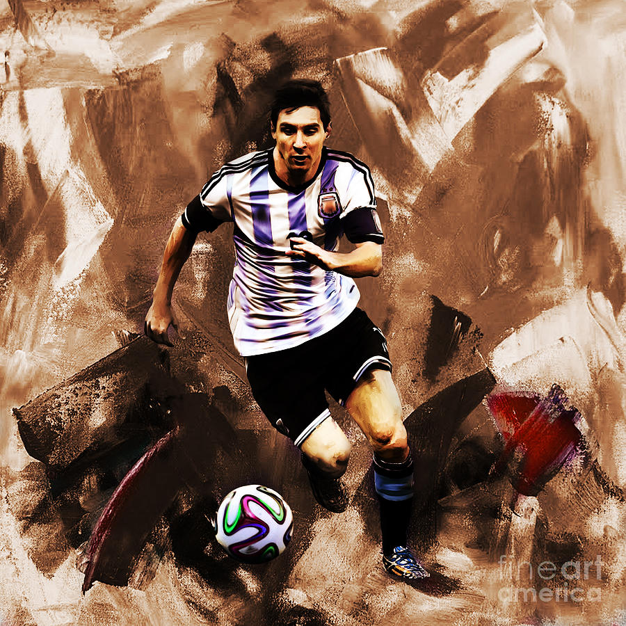 Lionel Messi Painting - Lionel Messi 094 by Gull G