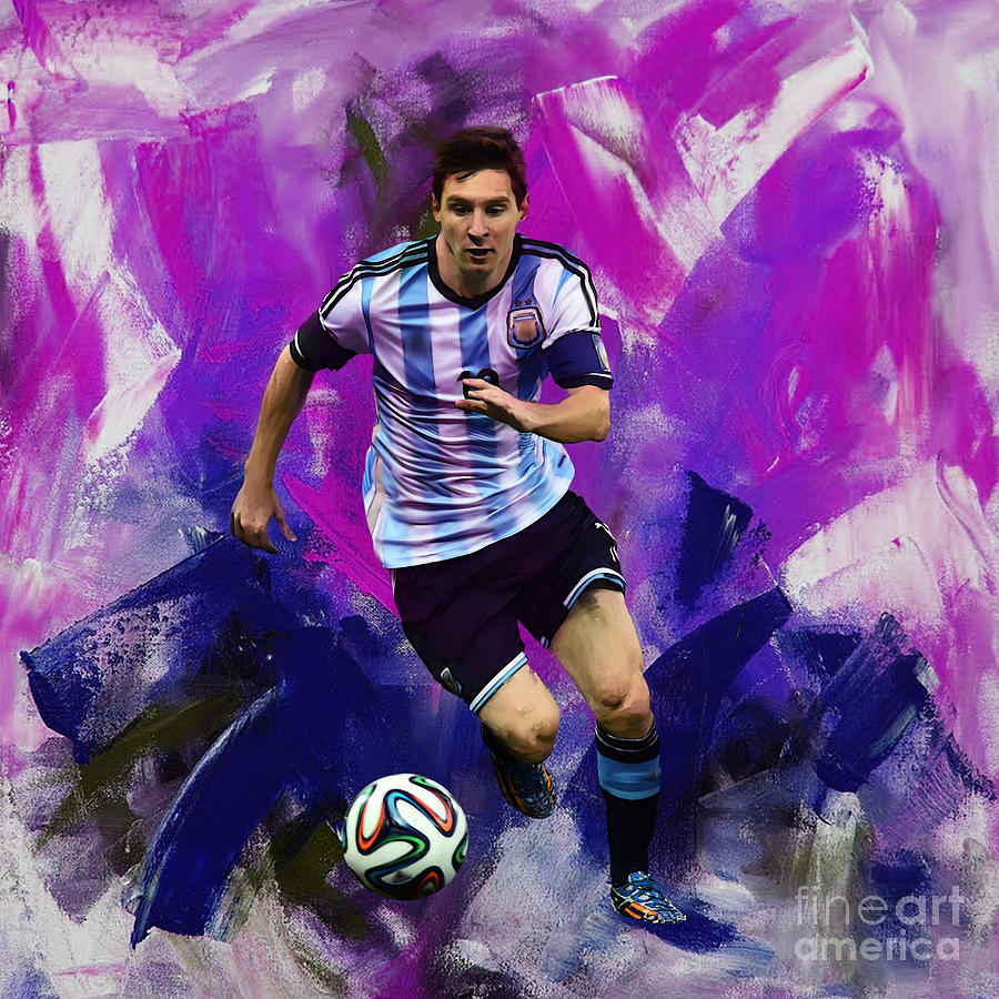 Lionel Messi Painting - Lionel Messi 094g by Gull G
