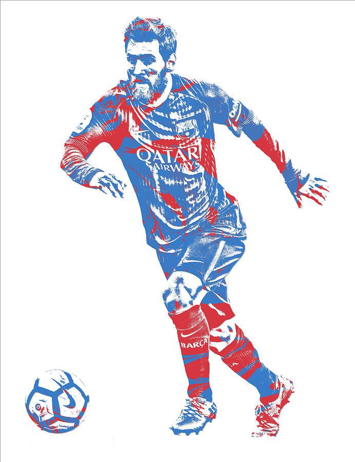 66c8ababc75 Lionel Messi F C Barcelona Argentina Pixel Art 1 Mixed Media by Joe ...
