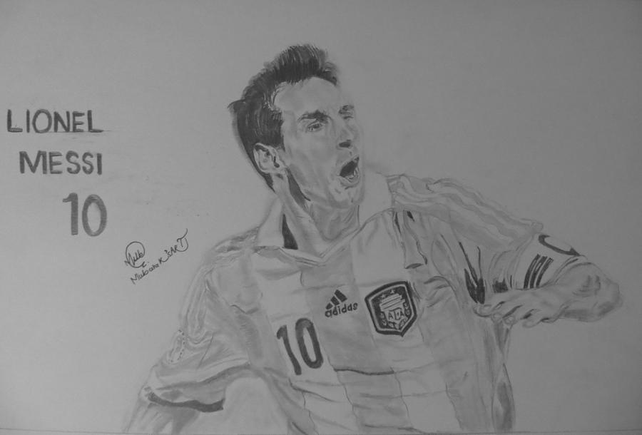 Lionel messi sketch by mubarak muhammad ali sorathiya