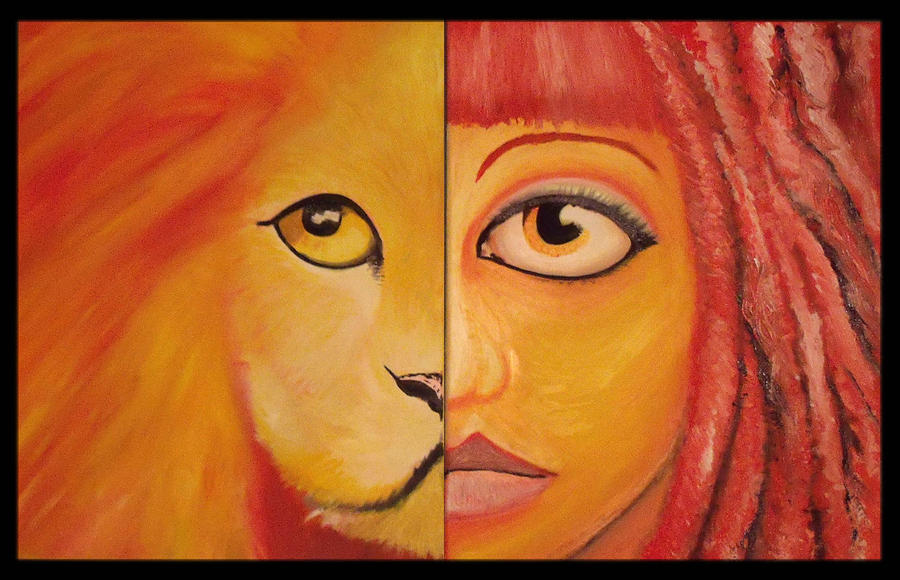 Lion Painting - Lioness by Alycia Ryan