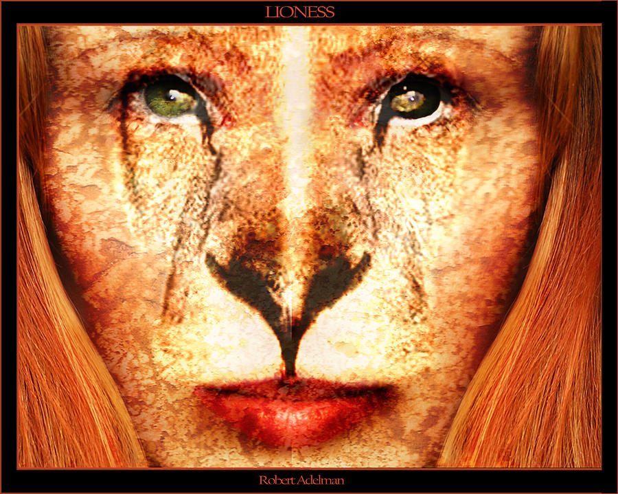 Lioness Digital Art - Lioness by Robert  Adelman