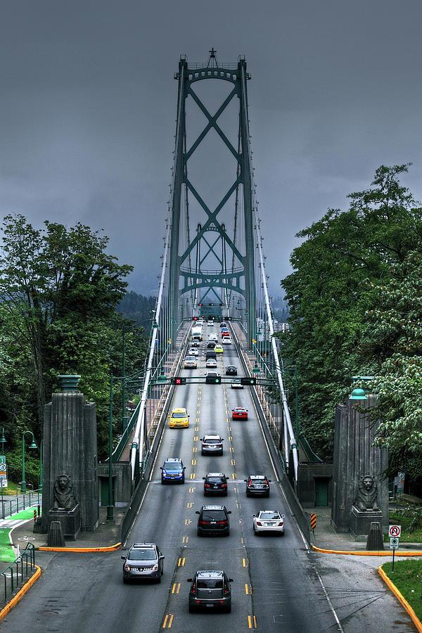 Lions Gate Bridge Photograph - Lions Gate Bridge by Richard Hinds