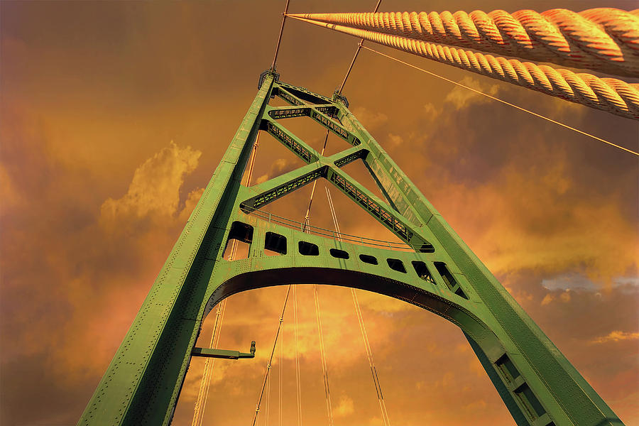 Lions Gate Bridge Photograph - Lions Gate Bridge Tower by David Gn