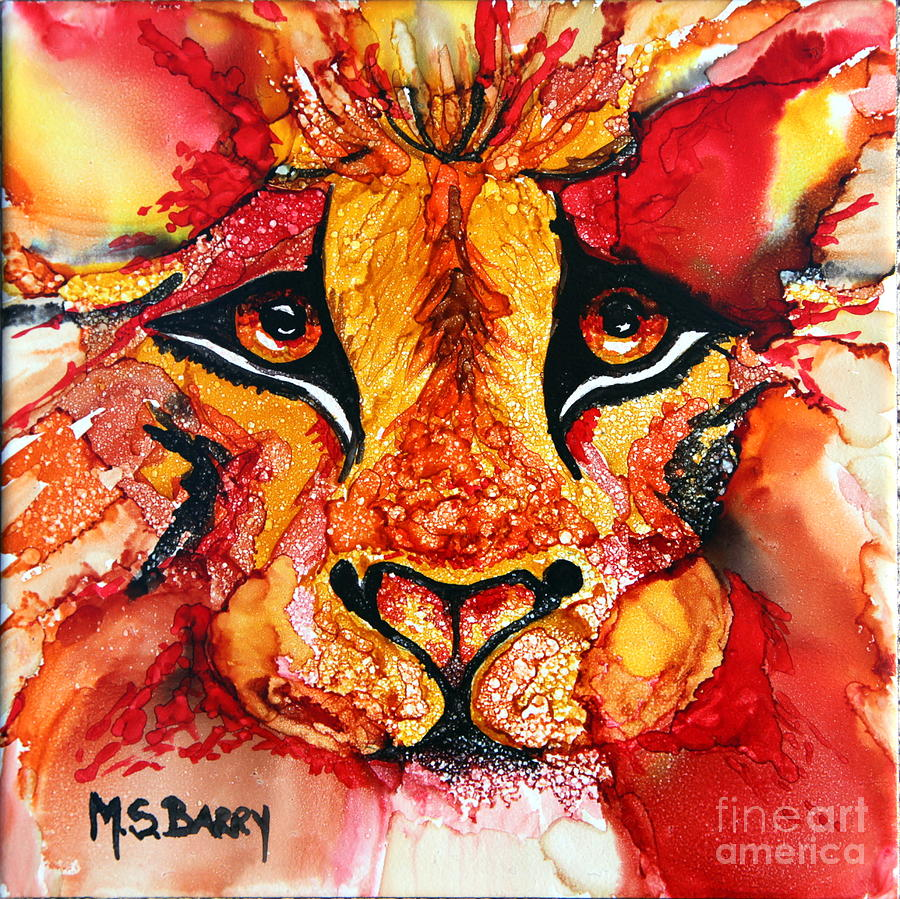 Lion's Head  Red by Maria Barry