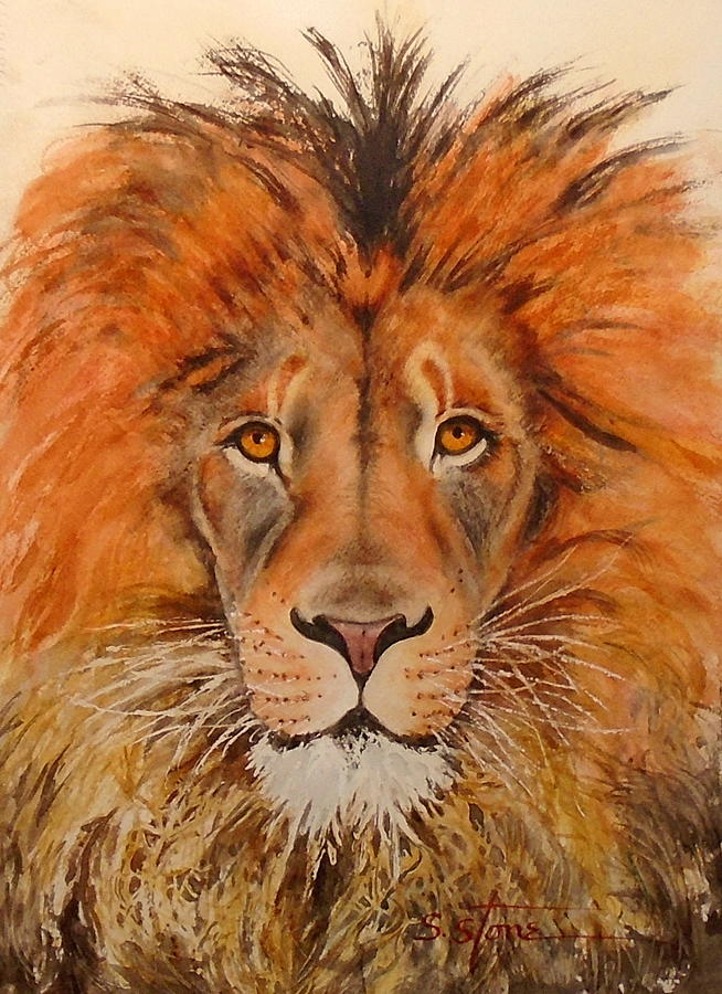 Portrait Painting - Lions Oh My by Sandra Stone