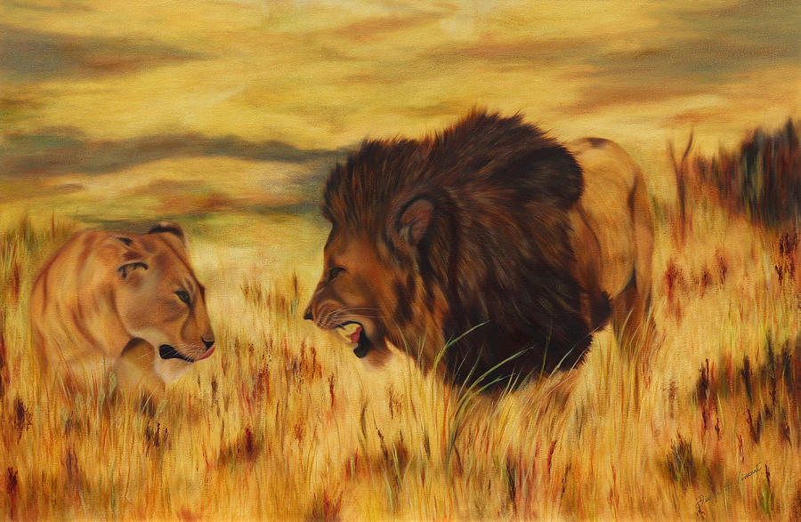 Lions on the Serengeti by Dianne Vincent