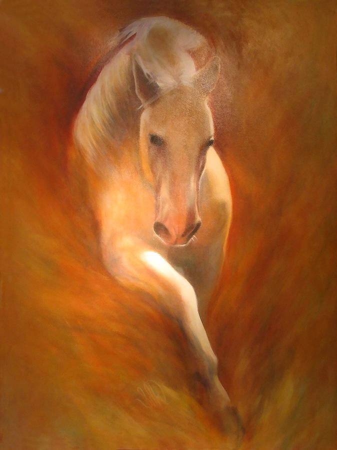 Horse Painting - Lipizzaner by Elizabeth Silk