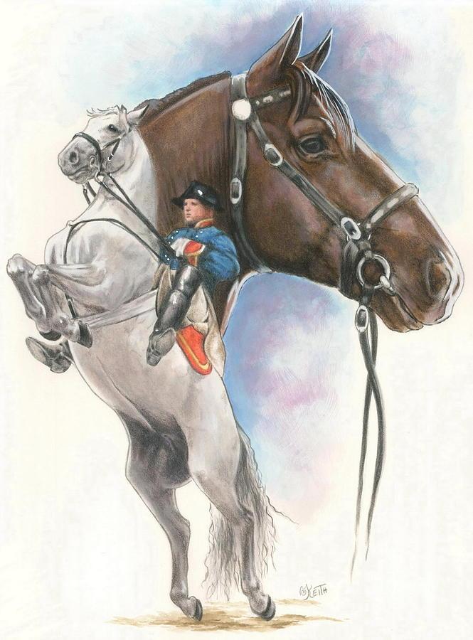 Spanish Riding School Mixed Media - Lippizaner by Barbara Keith
