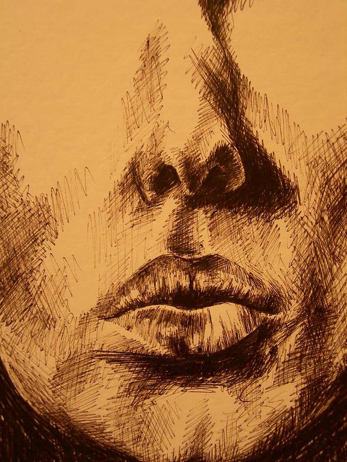 Portrait Drawing - Lips Are Beautiful by J Oriel