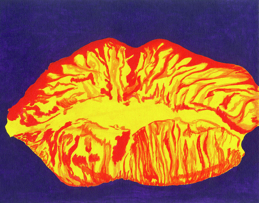 Lips Painting - Lips by Rishanna Finney