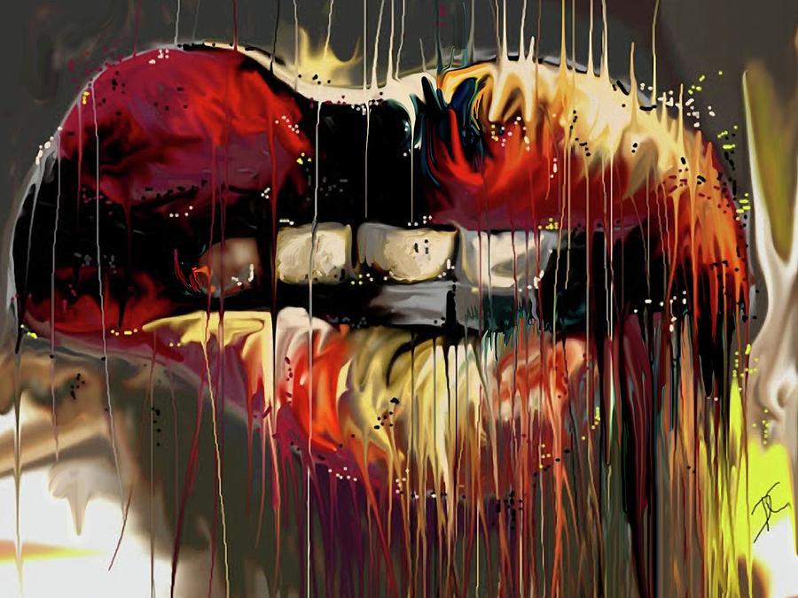 Sexy Digital Art - Lips Say It by Darren Cannell