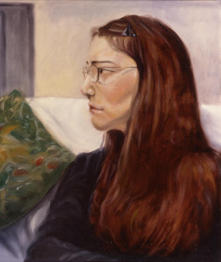 Woman Painting - Lipstick by John Clum