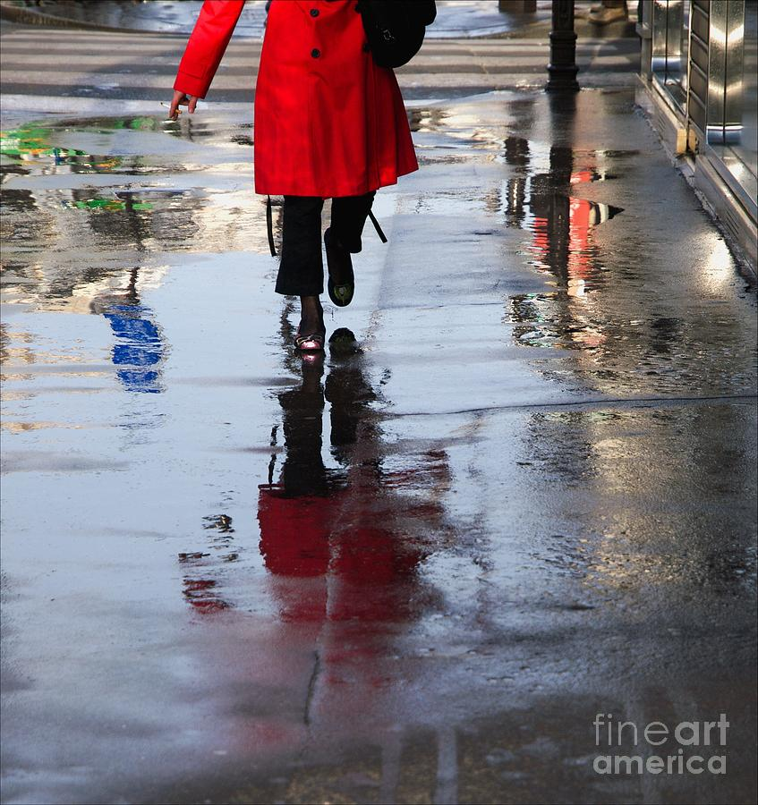 Red Photograph - Lipstick On The Street by Paolo Pizzimenti