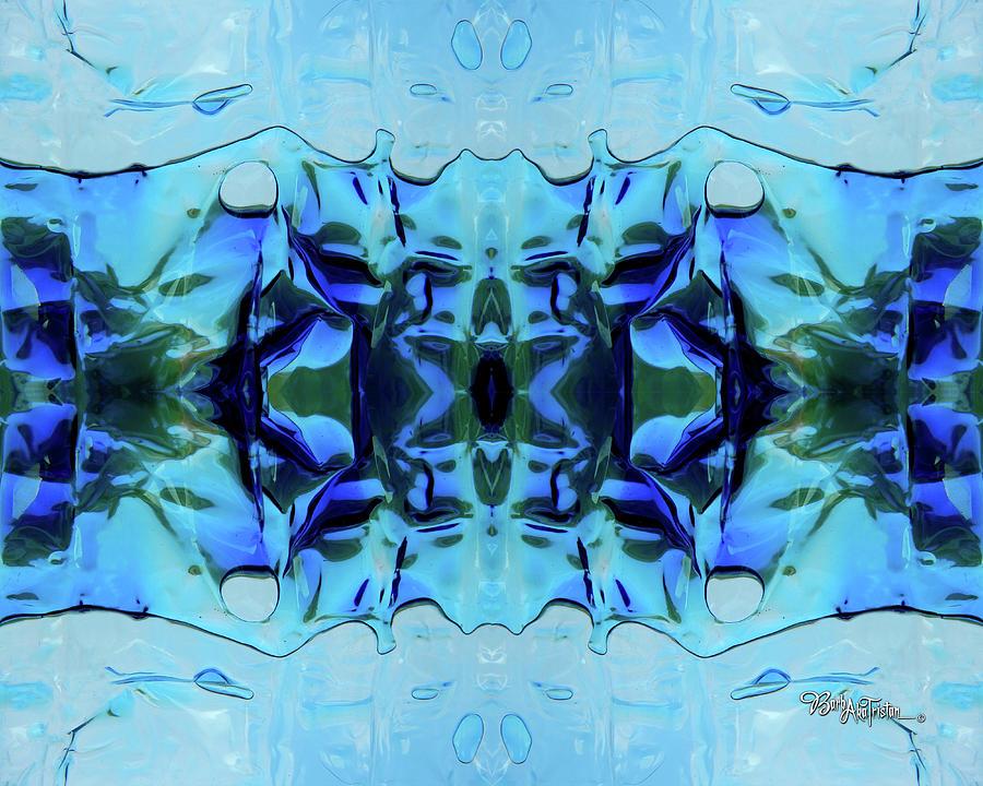 Creative Energy Digital Art - Liquid Abstract #0059-1 by Barbara Tristan