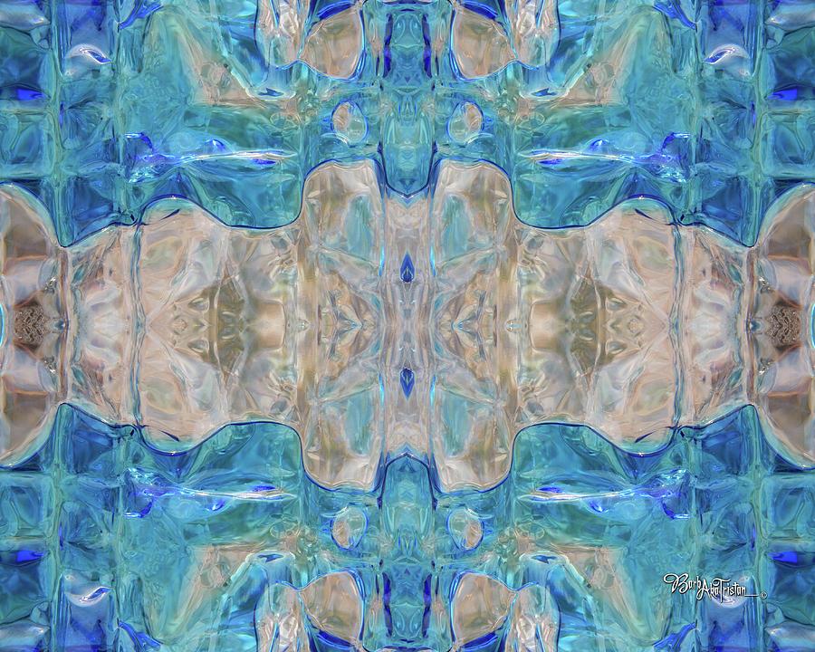 Creative Energy Digital Art - Liquid Abstract  #0060-2 by Barbara Tristan