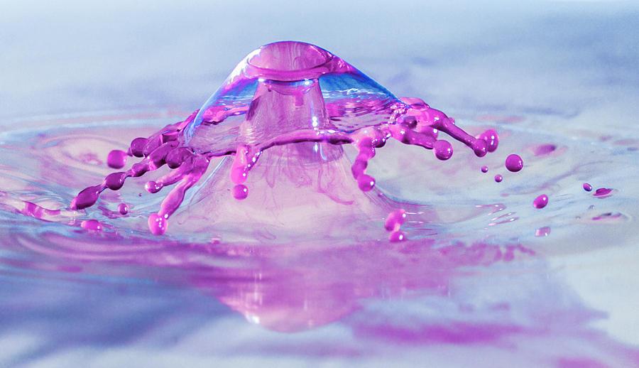 Waterdrops Photograph - Liquid Mushroom by Trish VanHousen