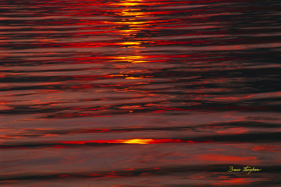 Lake Geneva Photograph - Liquid Sunset - Lake Geneva Wisconsin by Bruce Thompson