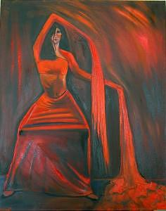 Liquido Rojo Painting by Niki Sands