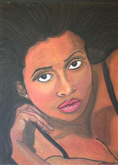 Portrait Painting - Lisa by Garnett Thompkins