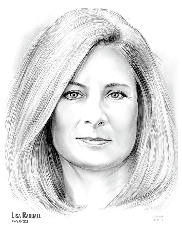Lisa Randall Drawing - Lisa randall by Greg Joens