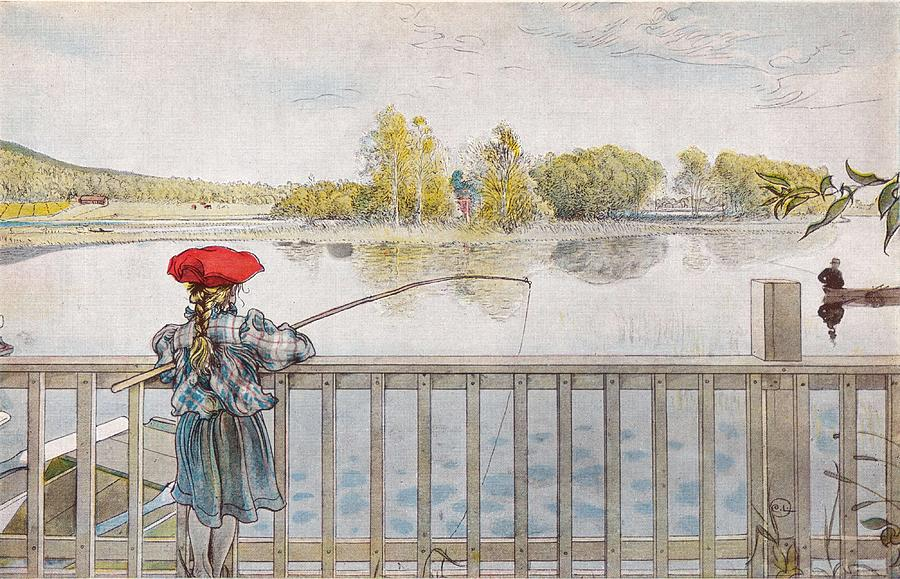 Nature Painting - Lisbeth Angling. From A Home By Carl Larsson by Carl Larsson
