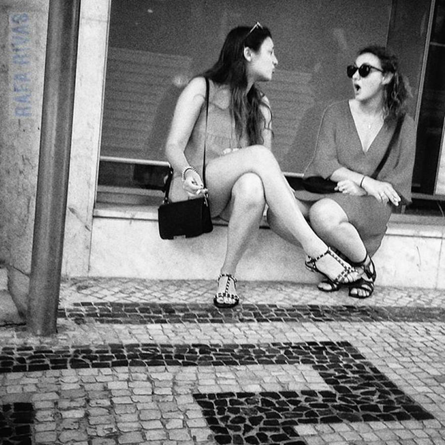 Girls Photograph - Lisbon Gossip  #girls #women #people by Rafa Rivas