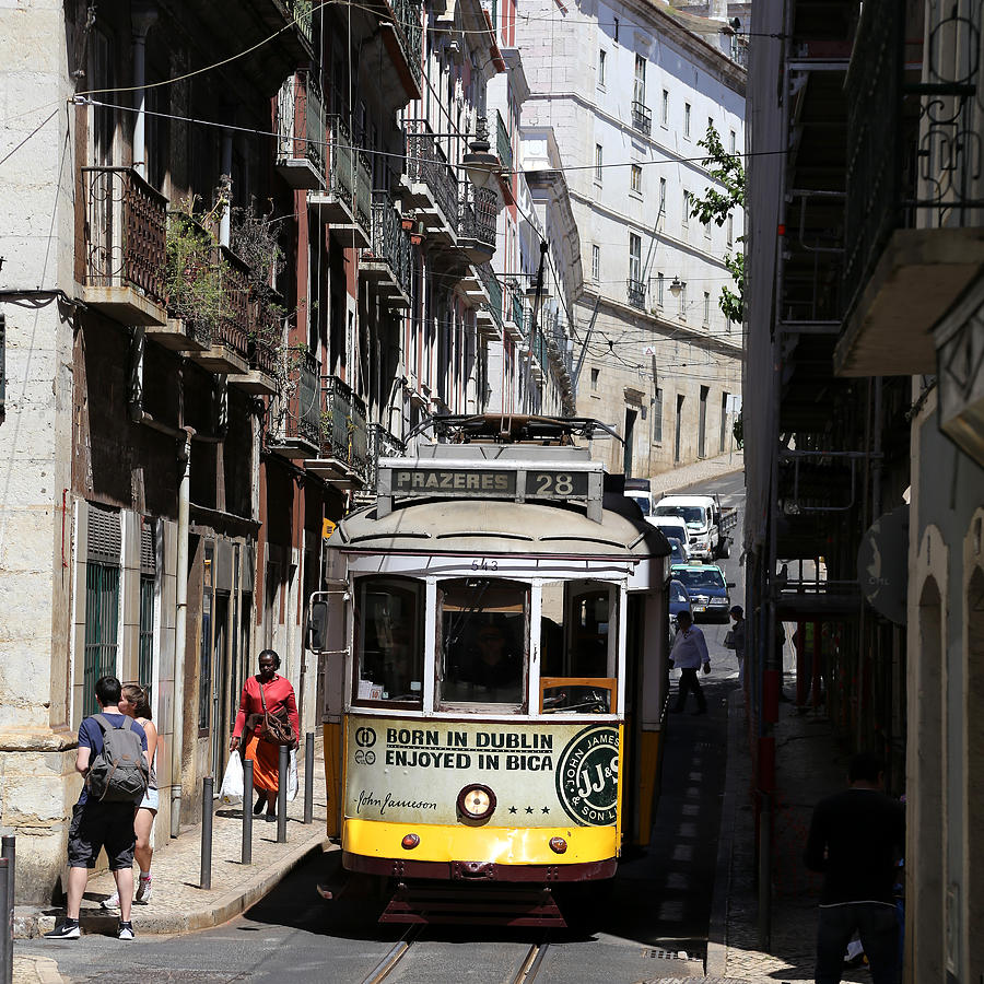 Trolley Photograph - Lisbon Trolley 16 by Andrew Fare