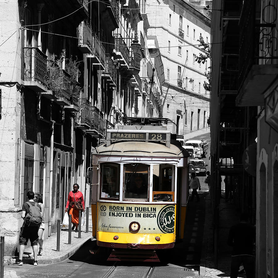 Trolley Photograph - Lisbon Trolley 16c by Andrew Fare