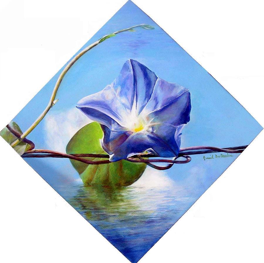 Flower Painting - Liseron by Muriel Dolemieux
