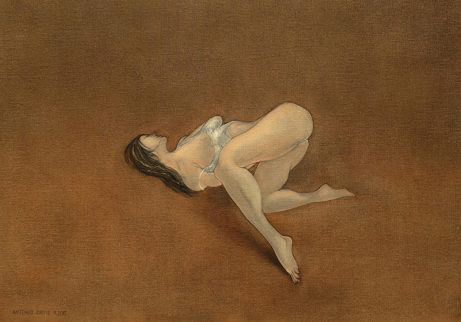 Female Nude Painting - Lissome by Antonio Ortiz