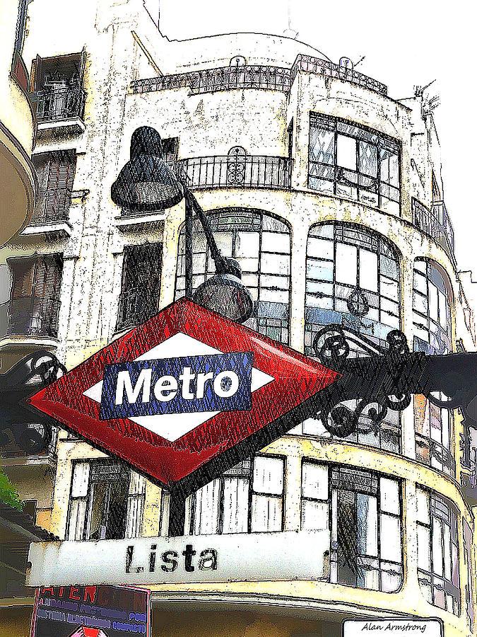 Lista Metro Entrance Madrid Digital Art By Alan Armstrong