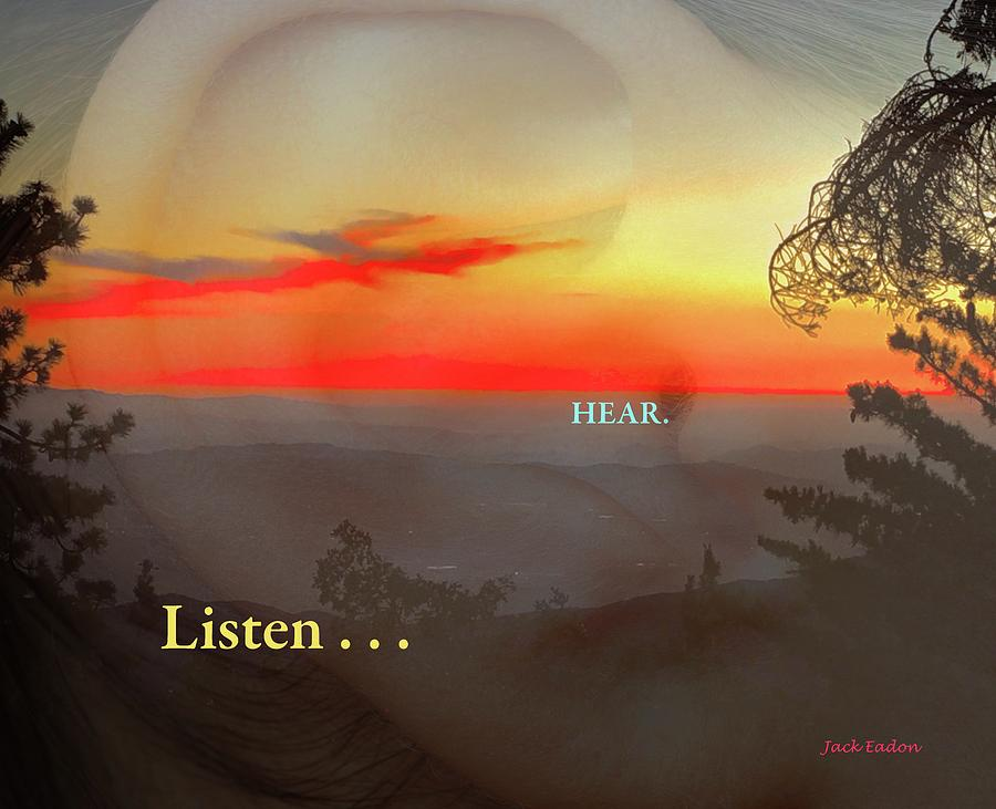Sunset Photograph - Listen . . . Hear by Jack Eadon