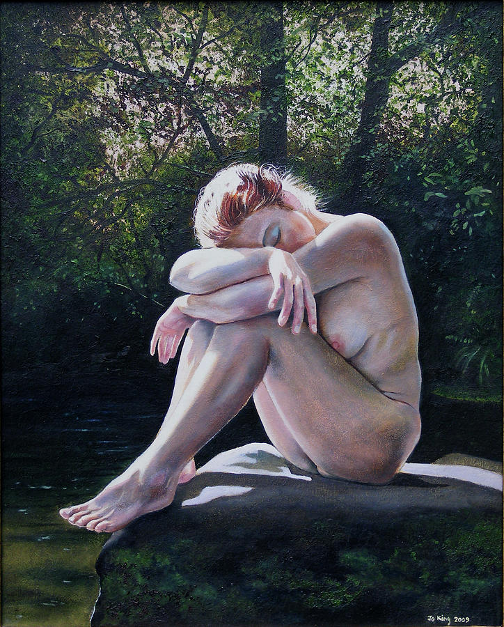 Nude Painting - Listen To The Birds by Jo King