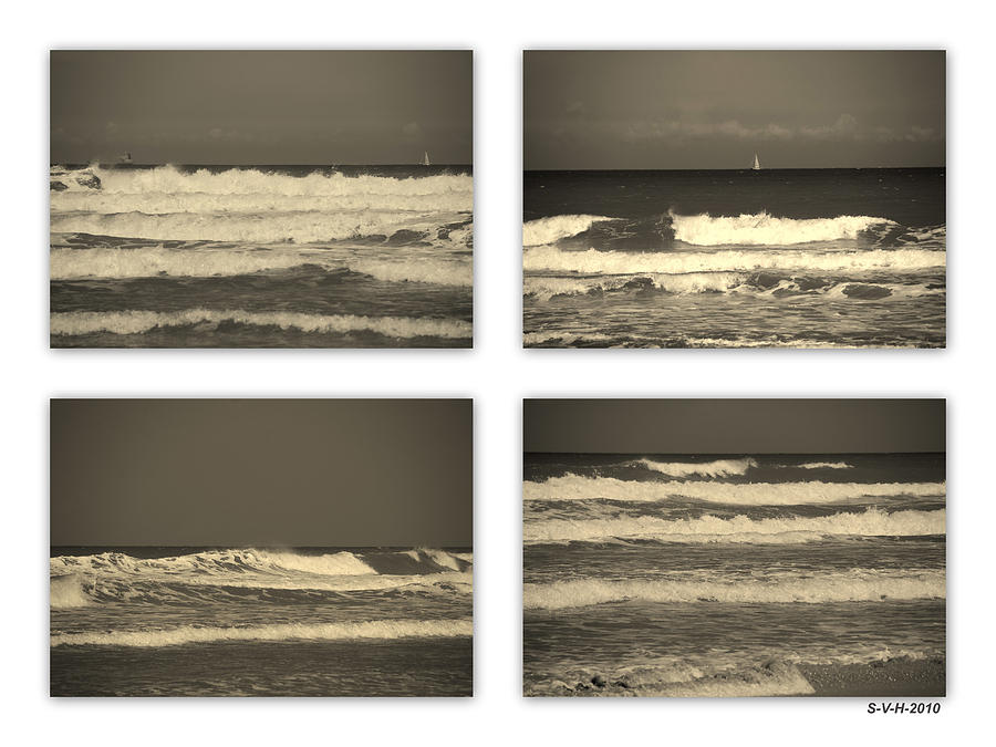Waves Photograph - Listen To The Song Of The Ocean by Susanne Van Hulst