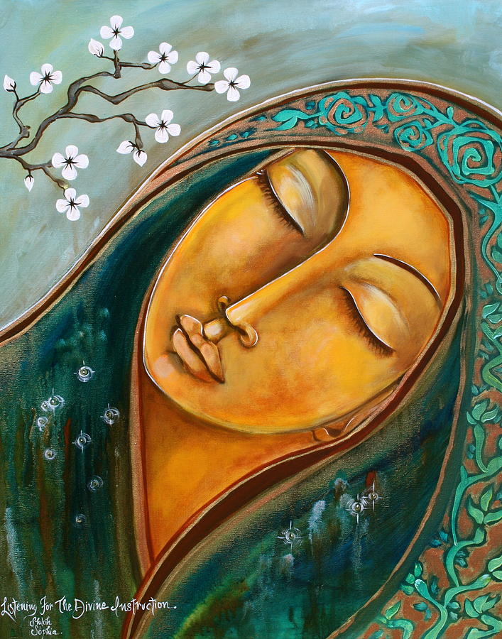 Listening For The Divine Instruction Painting by Shiloh Sophia McCloud