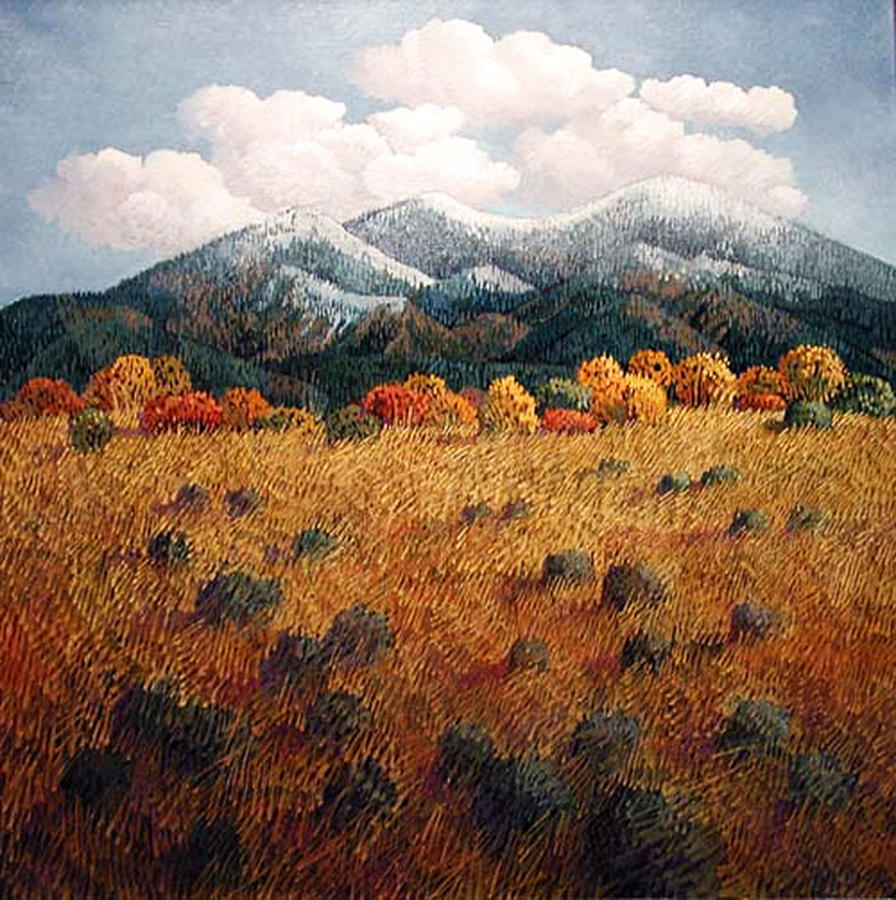 New Mexico Painting - Listening to Mountains by Donna Clair