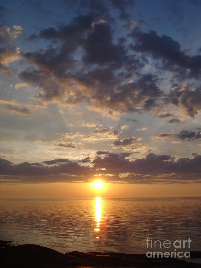 Sunset Photograph - Lit Bay by Chad Natti