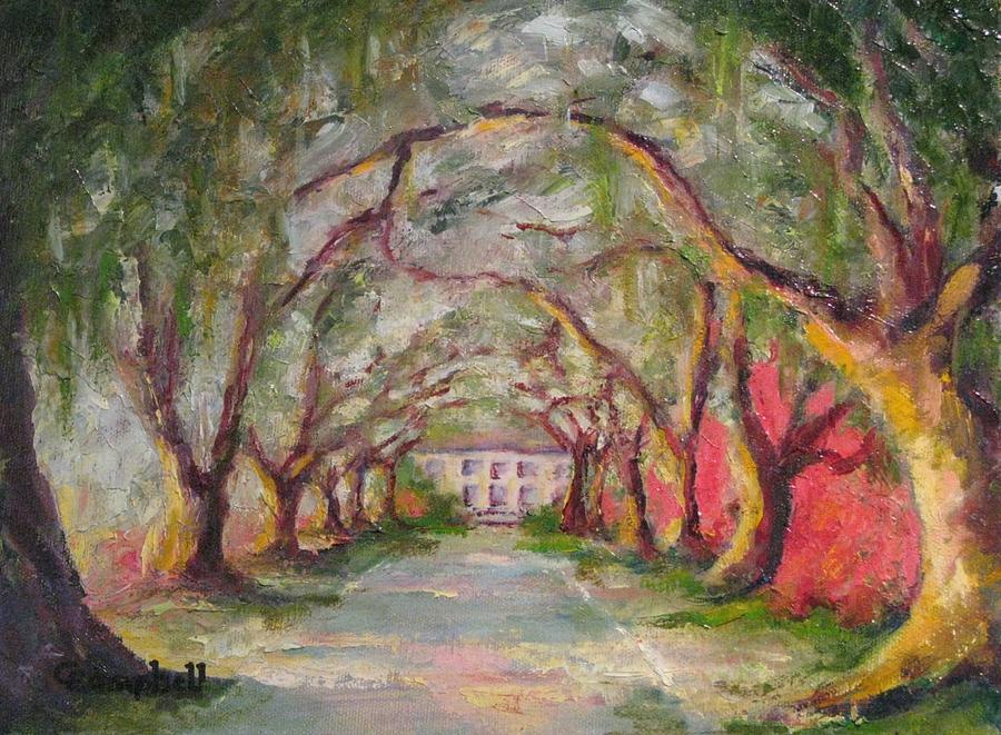 South Carolina Painting - Litchfield Carriage House by Cecelia Campbell