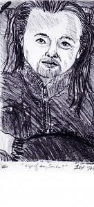 Lithograph Print Of Chris Print by Sasha Sun