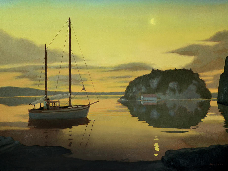Seascape Painting - Litlesotra by Arild Amland