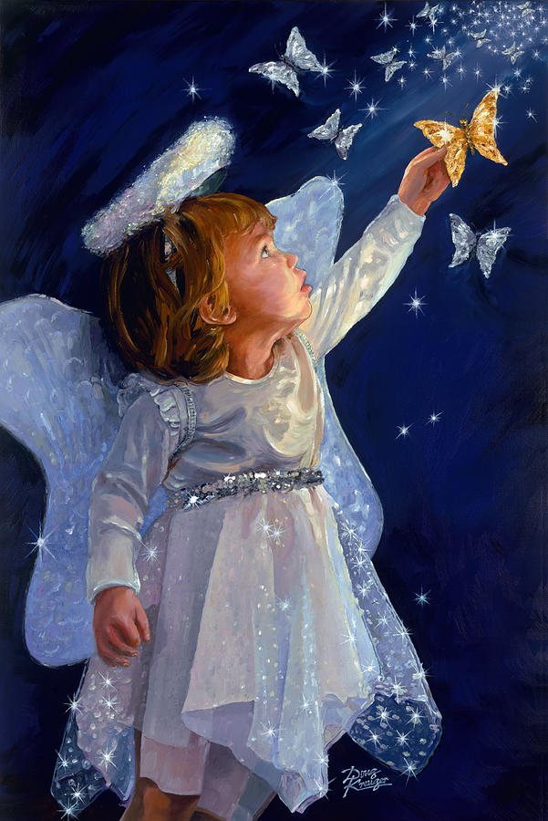 Little Angel Painting by Doug Kreuger