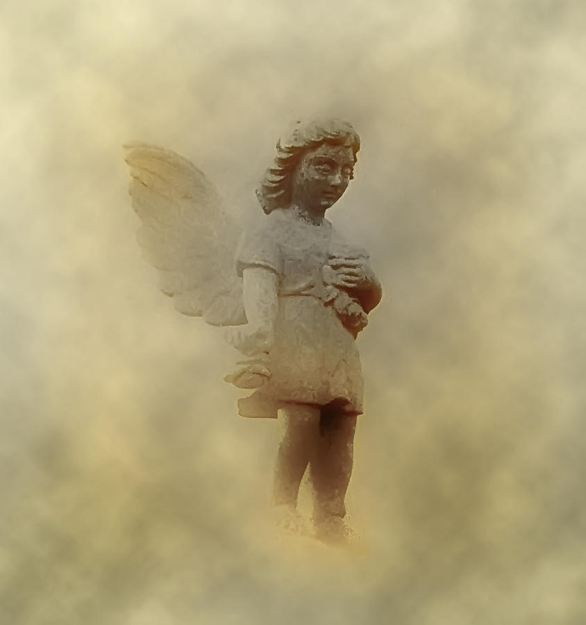 Angel Photograph - Little Angel In The Clouds by Bill Cannon