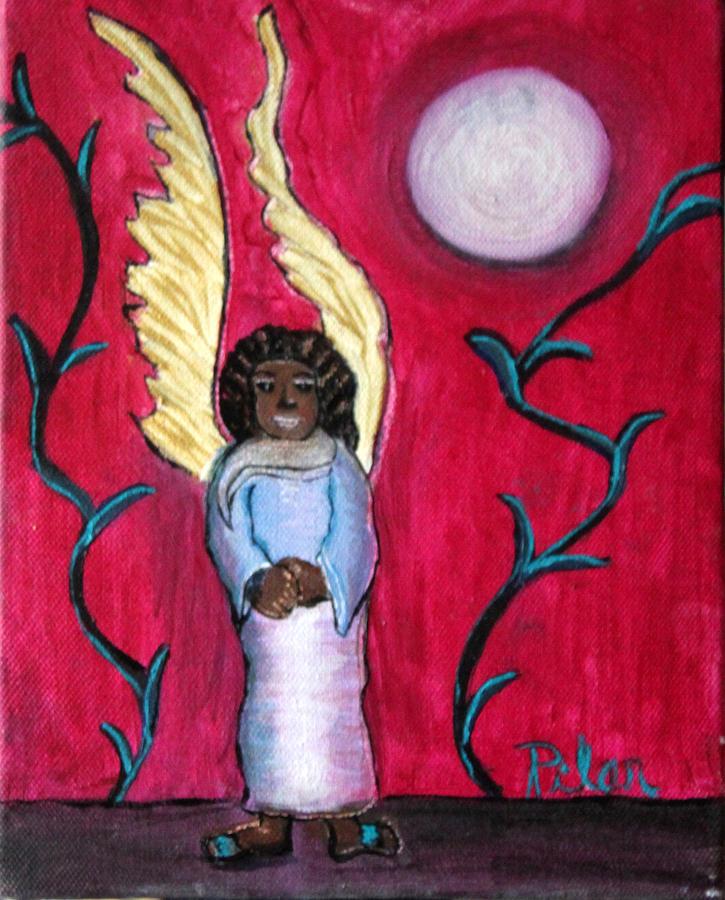 Little Angel Painting by Pilar  Martinez-Byrne
