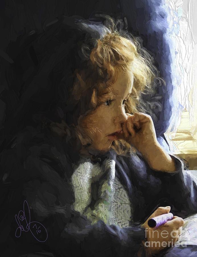 Artist Digital Art - Little Artist by David Francey