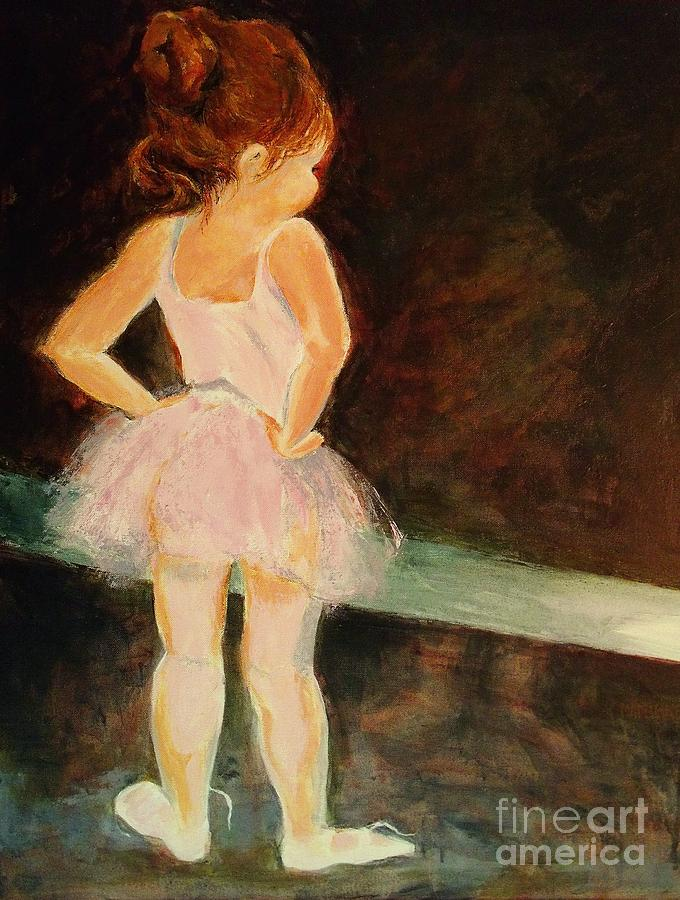 Little Ballerina Painting By Madeleine Holzberg
