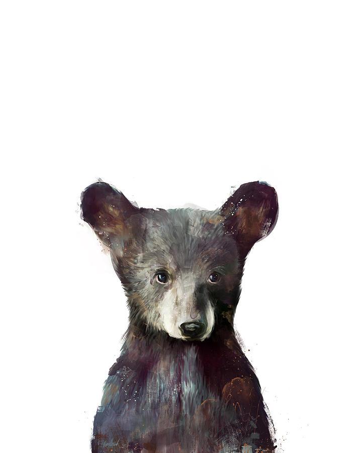 Bear Painting - Little Bear by Amy Hamilton