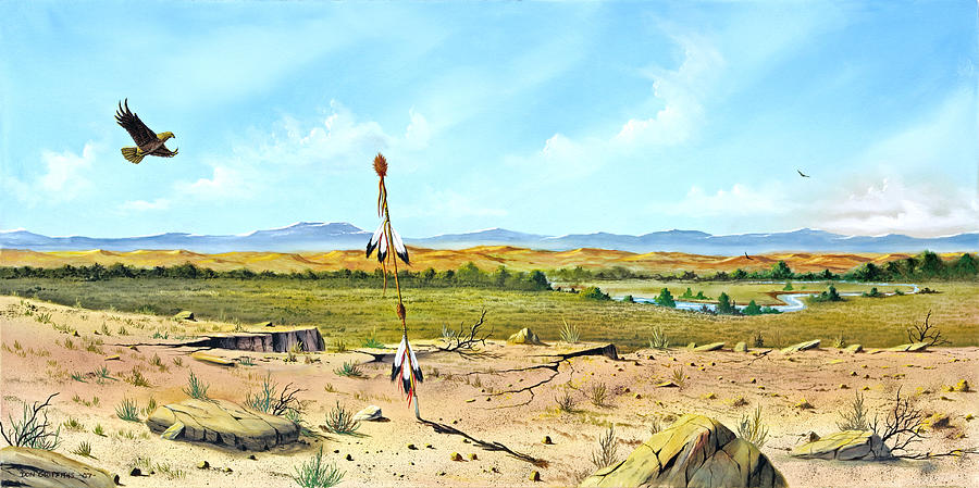 Landscape Painting - Little Bighorn by Don Griffiths