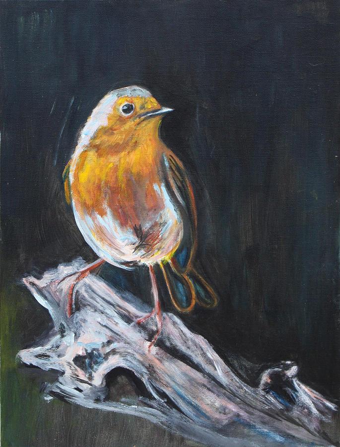Bird Painting - Little Bird by Denice Palanuk Wilson