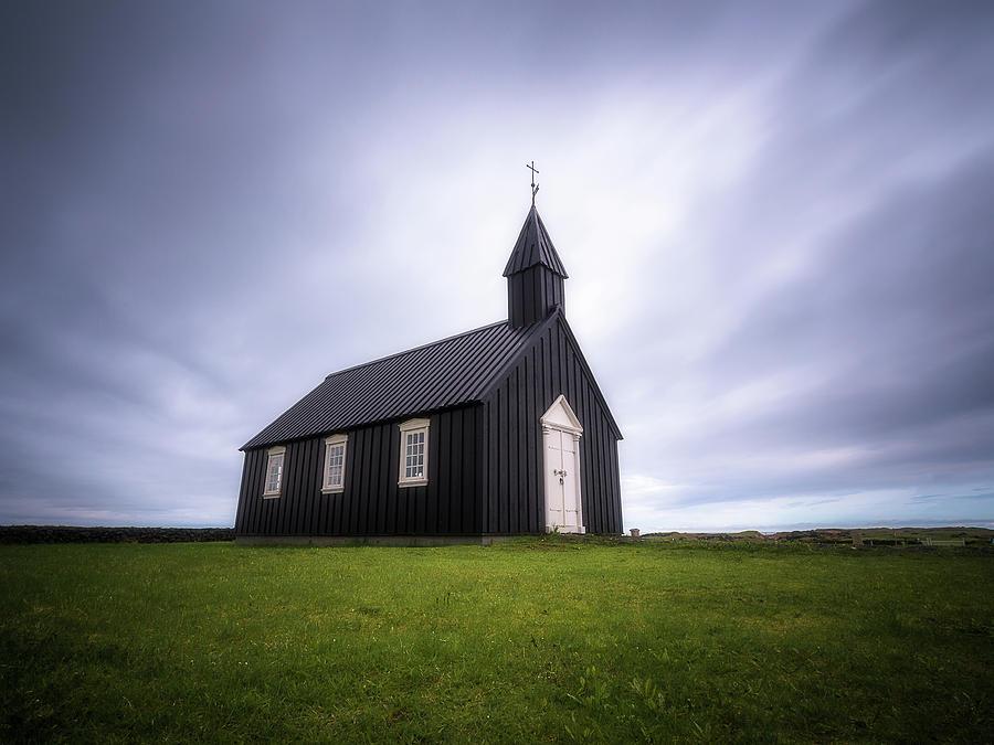 Little black church by Roelof Nijholt